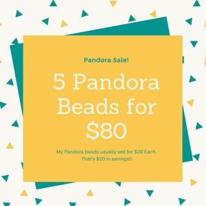 Sale! 5 Pandora Beads for $80 Instead of $100